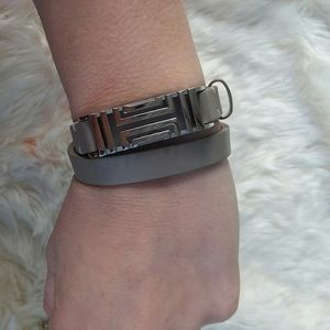 Tory Burch Fitbit wrap leather band
